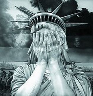 Statue liberty weeping